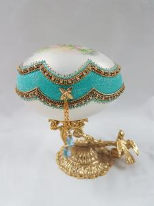 K067D Aqua Rose Jewel Box